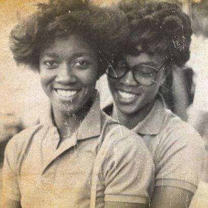 Two women looking at the camera
